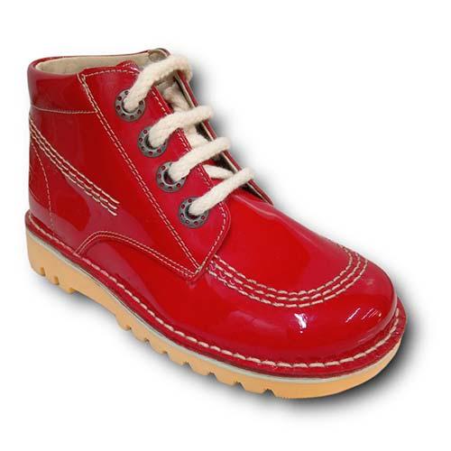 Botas TinnyShoes 2493 CHAROL ROJO